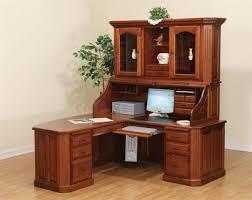 corner desk small oak computer desk in brown varnished modern computer table design dark tempered glass
