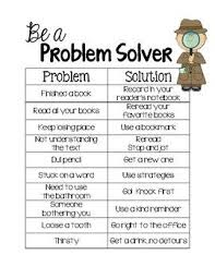 Be A Problem Solver Anchor Chart Printable For Interactive