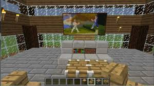 Minecraft Living Room Minecraft Tutorial Build A Tv And Basic Living Room Youtube