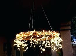 outdoor candle chandelier patio umbrella garden new trends diy