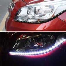 Parking Lights Car Rygaoan 1 Piece 60cm 5050 Smd 24 Led Drl Parking Light Car Styling Flexible Led Daytime Running Lights Real Waterproof
