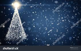 Falling Christmas Tree Lights Merry Christmas Greeting Card Christmas Tree Stock