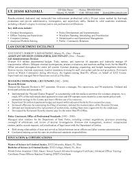 Law Enforcement Resume Objective 8 Entry Level Police Officer Cover