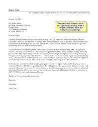 Cover Letter Boston University Prospecting Cover Letter