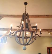 restoration hardware wine barrel chandelier knock off