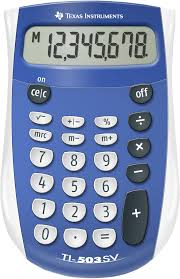 texas instruments ti sv basic battery powered calculator  texas instruments ti 503sv basic battery powered calculator