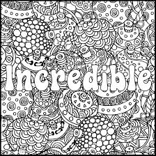 Positive Word Coloring Page Incredible Positive Adult Coloring