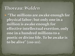 Thoreau Walden Quotes Enchanting Quotes From Thoreau's Walden Or Life In The Woods Ppt Video Online