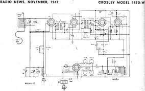 model a schematics wiring library crosley model 56td w schematic rf cafe