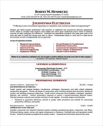 Electrician Cv Sample Electrician Resume Template 7 Free Documents