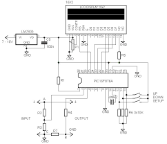 digital volt amp meter circuit diagram digital 16 2 lcd volt meter ampere meter pic electronic circuit on digital volt amp meter