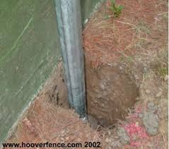 chain link fence post installation. Metal Fence Post Installation How To Install Chain Link Setting S