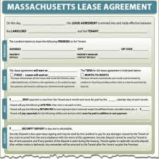 Massachusetts Lease Agreement