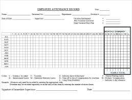 Weekly Attendance Register Template Attendance Record Template