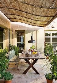 elegant bamboo patio blinds backyard