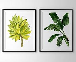 banana leaf wall art a037 set of 2 prints 8x10 banana on leaf wall art set with amazon banana leaf wall art a037 set of 2 prints 8x10