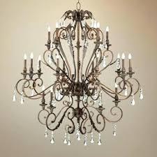 crystal bronze chandelier plus oil rubbed