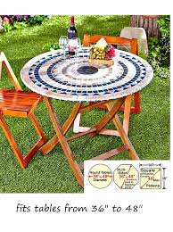 48 round patio table mosaic tile elastic fitted vinyl outdoor round patio table cover tablecloth 48