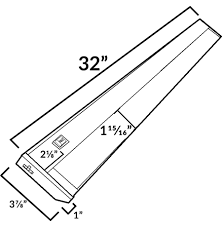 aquc32 32 inch led under cabinet light bar dimensions diagram