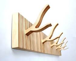 wooden wall hook rack like this item coat hanger 6 pertaining to plan 16