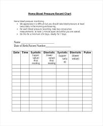 Blood Pressure Recording Blood Pressure Chart Template Pdf Home Record Skincense Co