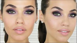 purple smokey eye makeup is best for hazel eyes pop how to make at home