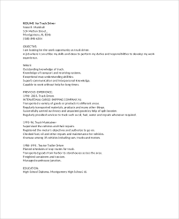 Sample Resume For A Driver