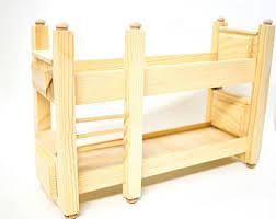 unfinished dollhouse furniture. Doll Furniture Unfinished- 1:6 Scale Bunk Bed - House Unfinished Dollhouse I