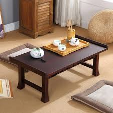 wood furniture dining table folding leg rectangle south korean traditional living room coffee for tea floor simple furniture