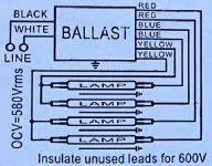fluorescent ballasts electrical 101 Electronic Ballast Wiring Diagram ballast wiring label ballast wiring diagram t8 electronic ballast wiring diagram