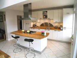 Cream Floor Tiles For Kitchen White Kitchen With Oak Worktop Do You Think It Looks Better With