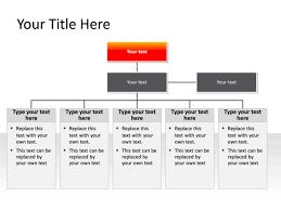 Powerpoint Slide Organization Chart 3 Levels Red