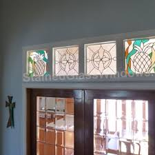 decorative glass window inserts. four decorative transom windows above a set of french doors glass window inserts n