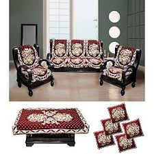 couch covers with cushion covers. Interesting Covers FK GOLDEN MAROON FLORAL VELVET SOFA COVERS TABLE COVER U0026 CUSHION SET Inside Couch Covers With Cushion O