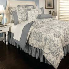toile bedding sets sherry country blue 6 piece luxury comforter toile comforter sets queen