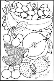 Small Picture Fruit Coloring Pages Sheet Free to Print Crafts Pinterest