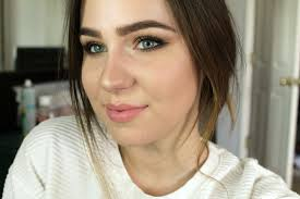 spring bronze eye makeup look