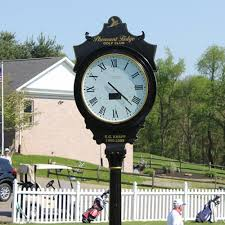 electric post clocks