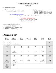 School Calendar 2015 16 Printable 25 Printable Academic Calendar Any Year Forms And Templates