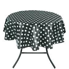 white vinyl tablecloth white vinyl tablecloth polka dot design indoor outdoor non woven baking round black
