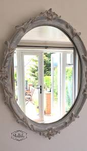 mirror painting ideas chalk paint mirror in french grey old white with antique gold mirror frame
