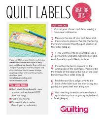 FREE Quilt labels printable - Love Patchwork & Quilting & Quilt labels FREE with Love Patchwork & Quilting magazine Adamdwight.com