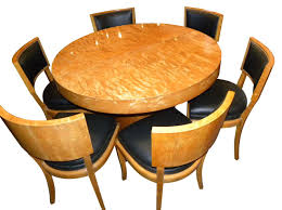 oval dining table art deco: art deco round mid century dining table and chairs