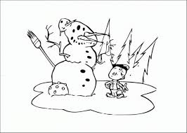 Boy Make Snowman Coloring Pages Winter | Winter Coloring pages of ...