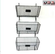 3 tier bin shelf kitchen wall mount