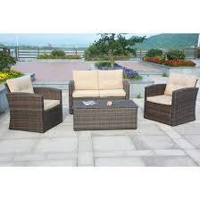 wicker patio furniture cushions. Modren Patio Puerta 4 Piece Outdoor Wicker Patio Sofa Set With Cushion Box Ideas Of  Chair Cushions Throughout Furniture