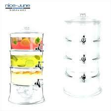 plastic beverage dispenser with spout 3 gallon glass