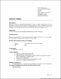 Type Of Resumes Types Of Resumes Samples Type Of Resumes