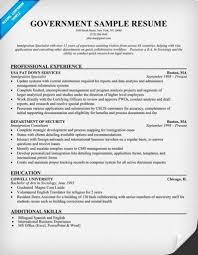 Government Resume Format Jospar