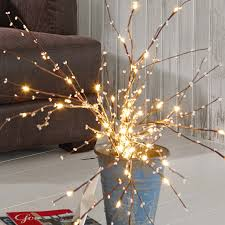 Christmas lights - perfect, I'll grab some dead branches outside for this!